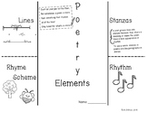 Poetry Elements Foldable