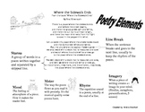 Poetry Elements Poster