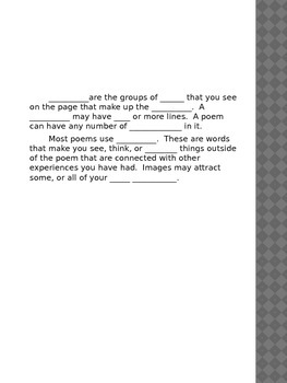 Poetry Elements Powerpoint/Packet
