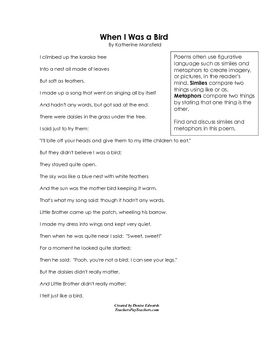 Teaching Poetry Printables Great for National Poetry Month