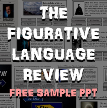 figurative language review powerpoint free sample poetry