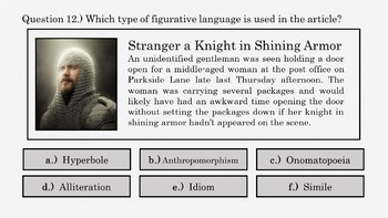 Figurative Language Review PowerPoint (Free Sample -Poetry Elements)