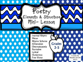 Poetry Elements & Structure Mini-Lesson