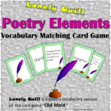 Poetry Elements - Vocabulary Game - Matching Cards Game