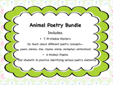 Poetry Elements and Animal Poems Bundle