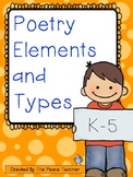 Poetry Elements and Types - All grades
