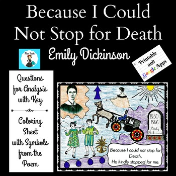 Poetry Emily Dickinson Because I Could Not Stop for Death