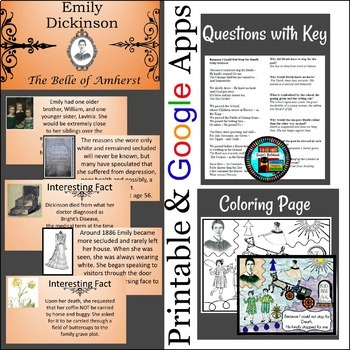 Poetry Emily Dickinson Because I Could Not Stop for Death Questions, Art and PPT