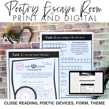 Poetry Escape Room Breakout