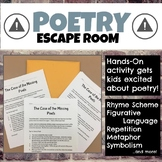 Poetry Escape Room (Breakout Room) for grades 6-8
