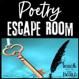 Poetry Escape Room - Middle School ELA