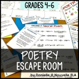 Poetry Escape Room Review Activity (grades 4-6)