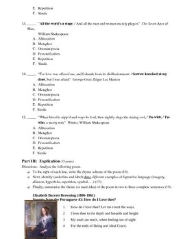 Poetry Essentials/Freshmen Poetry Test