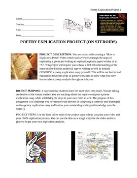 Poetry Explication Project (YOU BE THE TEACHER)