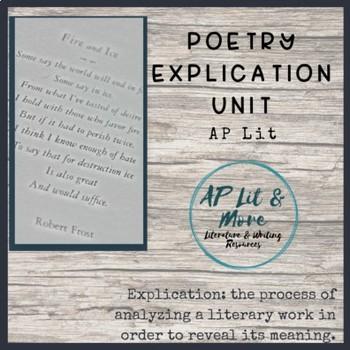 Poetry Explication Unit - AP Literature