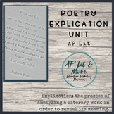 Poetry Explication Unit - AP Literature