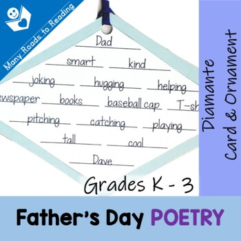 Father's Day Diamante Card & Ornament Poetry K-3