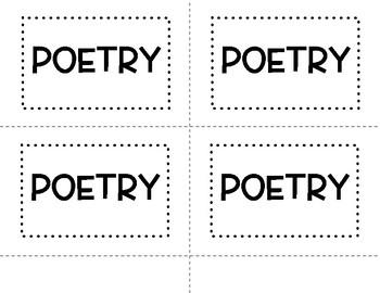 Poetry & Figurative Language Flipbook