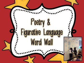Poetry & Figurative Language Interactive Word Wall