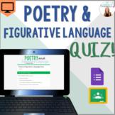 Poetry & Figurative Language Quiz - Google Forms - *EDITABLE!* - Easy Grading