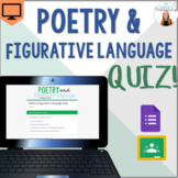 Poetry & Figurative Language Quiz - Google Forms - *EDITAB