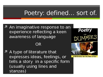 Poetry Figurative Language Slideshow