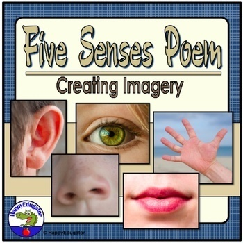Poetry Writing - Five Senses Poem and Creating Imagery Poetry Activity