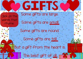 """""""Gifts"""" Poem of the Week Flipchart for ActivInspire"""