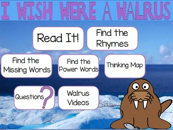 "Poetry Flipchart for ActivInspire: ""I Wish I Were a Walrus"""