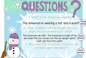 "Poetry Flipchart for ActivInspire; ""I'm a Little Snowman."""