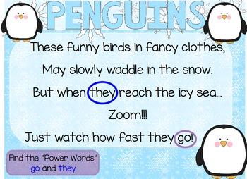 "Poetry Flipchart for ActivInspire; ""Penguins"""