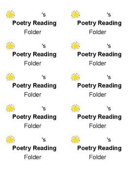 Poetry Folder Label