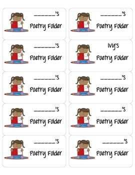 Poetry Folder Labels