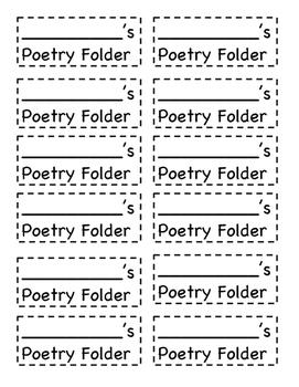Poetry Folder Labels