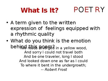"""Poetry - For All Those Students Who Claim They """"Hate"""" Poetry"""