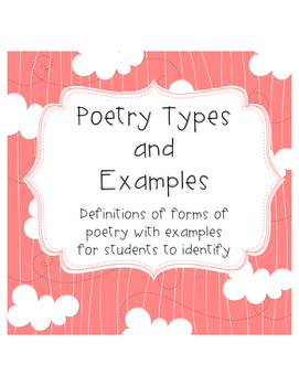 Poetry Forms and Poem Types
