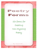 Poetry Forms for Non-Rhyming Poetry
