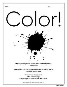 Free Verse Poetry: Celebrate Color CCSS Grades 3-6