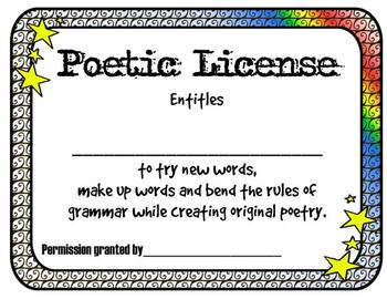 Poetry Freebie! Poem in your Pocket Day (resources)