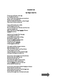 Poetry - Frost and Poe - rhyme scheme, theme, mood, imagery