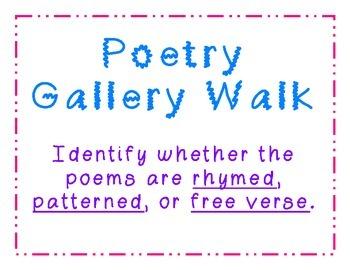 Poetry Gallery Walk