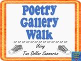 Poetry Gallery Walk Using Two Dollar Summaries