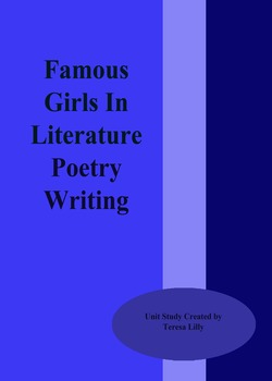 Poetry: Famous Girls in Literature Poetry Writing