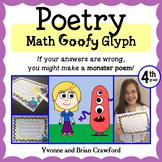 Poetry Math Goofy Glyph (4th Grade Common Core)