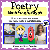 Poetry Math Goofy Glyph (5th Grade Common Core)