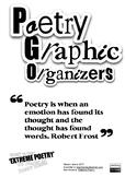 Poetry Graphic Organiser Organizers