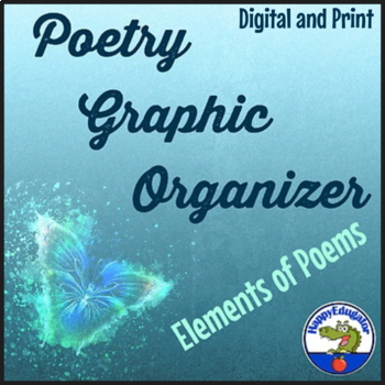 Poetry Graphic Organizer for Sensory and Figurative Language