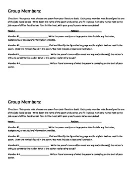 Poetry Group Project