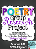 Poetry Group Research Project
