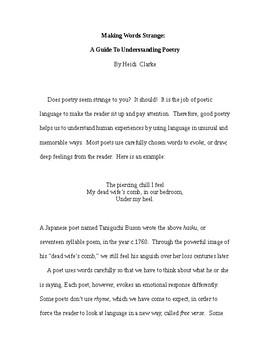 Poetry Guide: Making Words Strange